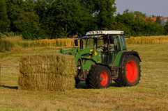 Hay harvest Stock Photo