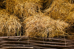 Hay at haylofts Stock Photo