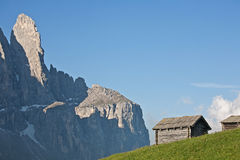 Hay hut in Dolomites Stock Photography