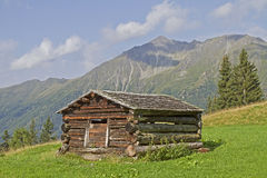 Hay hut in East Tyrol Royalty Free Stock Photo