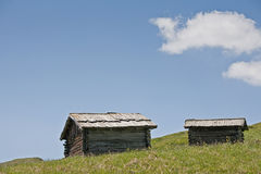 Hay hut idyll Stock Photo