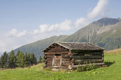 Hay hut in the Lesach Valley Royalty Free Stock Photo