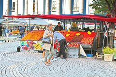Hay Market (Hotorget) op Hotorget-vierkant, Stockholm, Zweden Royalty-vrije Stock Foto
