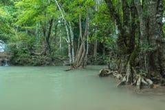 Hay Mea Kamin waterfall , Loacated Kanchanaburi Province , Thail Royalty Free Stock Images