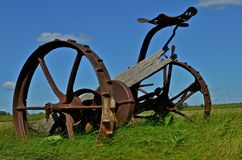 Hay Mower Antique in the Field Royalty Free Stock Images