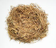 Hay Nest. Top-view of hay nest used for background or object stock image