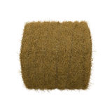 Hay pile isolated on a white background as an agriculture farm and farming symbol of harvest time with dried grass straw. Hay pile isolated on a white background Stock Photography