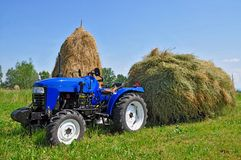 Hay preparation Royalty Free Stock Photos