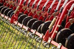 Hay rake farm machinery equipment Stock Photos