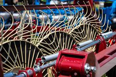 Hay rake farm machinery equipment Stock Photos