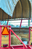 Hay rides trailer Royalty Free Stock Photography