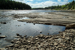 Hay River, NWT, Canada. Rocks along the Hay River in North West Territories, northern Canada Stock Images