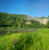 Hay River. Russia, South Ural. Royalty Free Stock Photo