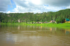 Hay River. Russia, South Ural. Royalty Free Stock Image