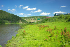 Hay River. Russia, South Ural. Royalty Free Stock Photos