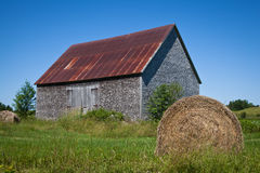 Hay Roll Barn Stock Images