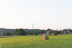 Hay roll in France Royalty Free Stock Photography