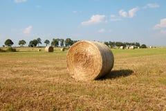 Hay Roll On uma exploração agrícola Imagem de Stock