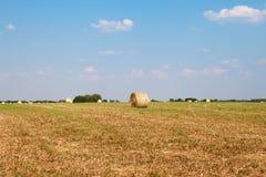 Hay Roll On un'azienda agricola Fotografia Stock
