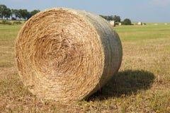 Hay Roll On una granja Imagen de archivo libre de regalías