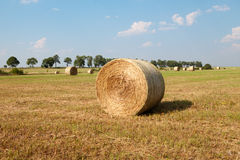 Hay Roll On une ferme Image stock