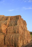 Hay Rolls and beautiful blue summer sky stock images