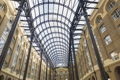 Hay`s Galleries. Roof of Hay`s Galleries in London, UK Stock Image