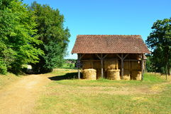 Hay Shed in the Dordogne. Hay Shed in the Périgord, France stock image