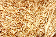 Hay Shot. Closeup of some artificial hay Royalty Free Stock Image