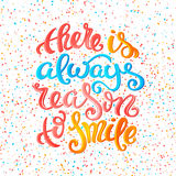 Hay siempre razón para sonreír stock de ilustración