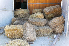 Hay stables Stock Images