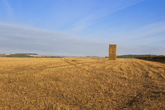 Hay stack in autumn Royalty Free Stock Image