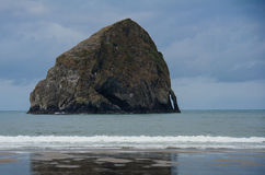 Hay Stack Rock at Pacific City, Oregon Royalty Free Stock Photo
