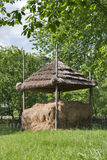 Hay stack with the roof Royalty Free Stock Photos