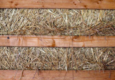 Hay stack and timber close up Stock Photos