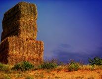 Hay stacks in Spain Royalty Free Stock Photos