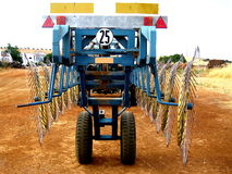 Hay Star-Wheel Rake Tractor Fotografia Stock Libera da Diritti