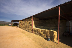 Hay storage shed on a farm Royalty Free Stock Images