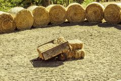 Hay, Straw, Soil, Wood Royalty Free Stock Photos