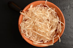 Hay straws in a bowl Stock Image
