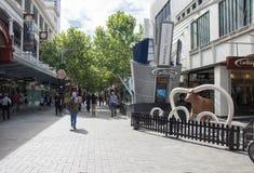 Hay Street Mall und Art Installation Lizenzfreie Stockfotografie