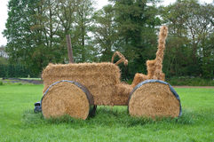 Hay tractor stock photos