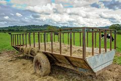 Hay Trailer Royalty Free Stock Image