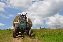 Hay transportation Royalty Free Stock Photo