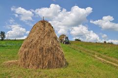 Hay transportation Stock Photo