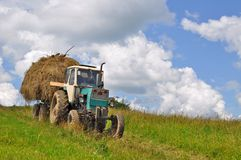 Hay transportation Royalty Free Stock Photos