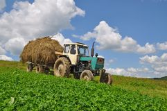 Hay transportation Stock Photography