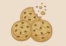 Hay tres galletas dulces imagen de archivo