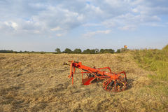 Hay turning eqipment Stock Photos