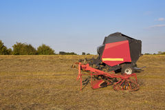Hay turning eqipment Royalty Free Stock Image
